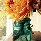 Dahlia in Canning Jar by Barbara Wyeth