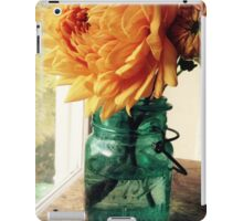 Dahlia in Canning Jar iPad Case/Skin