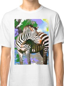 Zebra:  Earth A Home For All Classic T-Shirt