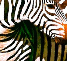 Zebra:  Earth A Home For All Sticker