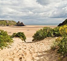 Three Cliffs Bay by Steve  Liptrot
