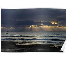 Heavens Rays Poster