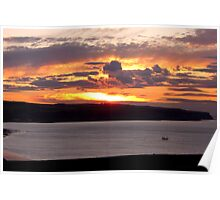 Sunset over Whitby Bay Poster