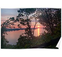 Sunrise on Lake Ontario Poster