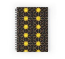 Neon yellow and red flower power Spiral Notebook