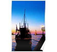 Sunset in Chania Poster