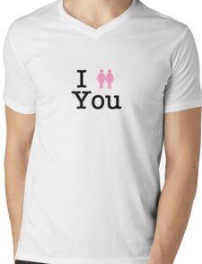 I Lesbian You (Light Shirts) Mens V-Neck T-Shirt