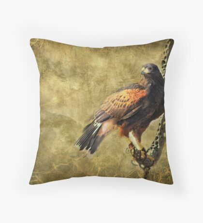 Harris Hawk Throw Pillow