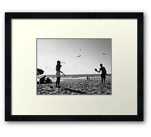beach games Framed Print