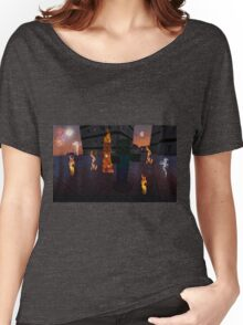 IS THAT A VILLAGER ON FIRE? Women's Relaxed Fit T-Shirt