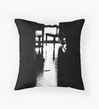 lonely piano Throw Pillow