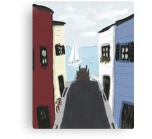Colorful Seaside Village Canvas Print