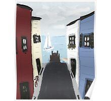 Colorful Seaside Village Poster