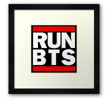 BTS Bangtan Boys 'RUN BTS' Framed Print
