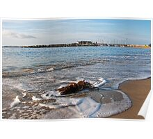 Along The Waterfront ~ Lyme Regis Poster