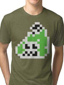 Splatoon Inspired: Black 8-Bit FishFry Tri-blend T-Shirt