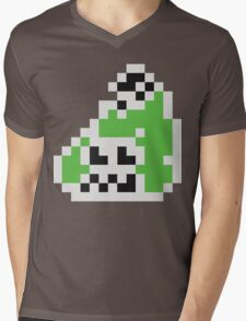 Splatoon Inspired: Black 8-Bit FishFry Mens V-Neck T-Shirt
