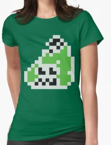 Splatoon Inspired: Black 8-Bit FishFry Womens Fitted T-Shirt