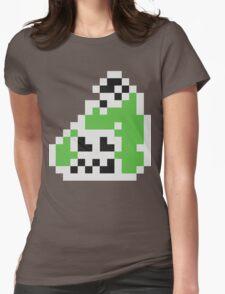 Splatoon Inspired: Black 8-Bit FishFry Womens Fitted T-Shirt