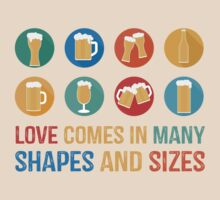 Love Comes in Many Shapes and Sizes by Sol Noir Studios