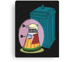 Daleks in Disguise - Sixth Doctor Canvas Print