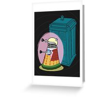 Daleks in Disguise - Sixth Doctor Greeting Card