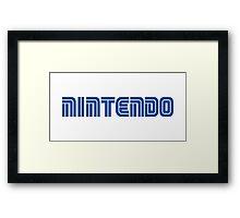 Nintendo/Sega Logo Framed Print
