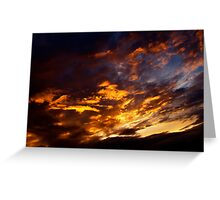 Flaming Sky Greeting Card