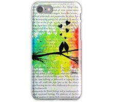 Bird Silhouette Rainbow splash iPhone Case/Skin