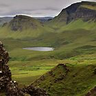 Quiraing, Skye on a driech day by Paul  Gibb