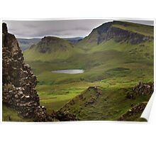 Quiraing, Skye on a driech day Poster