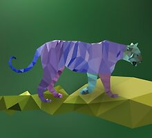 Low Poly Tiger by Michael Blais