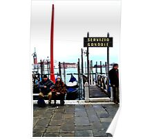 Italian Bus Stop Poster