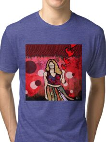 Release...a digital GRRRRRL doll Tri-blend T-Shirt