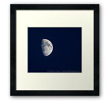 Half Moon in blue Framed Print