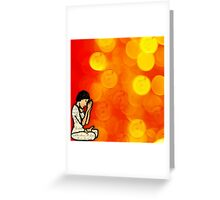 Creative Practice of Lotus with Words... Greeting Card