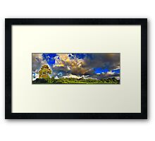 Sky Clouds and The Earth Framed Print