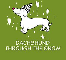 DACHSHUND THROUGH THE SNOW by imgarry