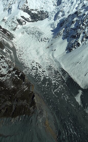 In the Hall of the Mountain King- Hochstetter from the Air  by Ben Loveday