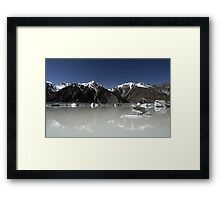 In the Hall of the Mountain King- The Ice Lake Framed Print