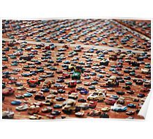 'Wall of Cars' Poster