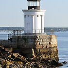 Bug Light at Casco Bay  by John  Kapusta