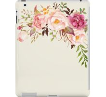 Romantic Watercolor Flower Bouquet iPad Case/Skin