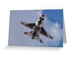 USAF Thunderbird Belly Shot Greeting Card