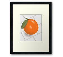 Still Life with Orange and Tiles Framed Print