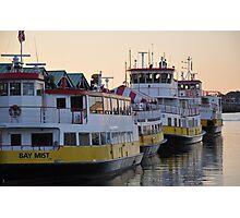 The Ferry Fleet Portland Maine  Photographic Print