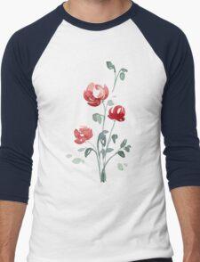 flowers. roses. flower happiness Men's Baseball ¾ T-Shirt