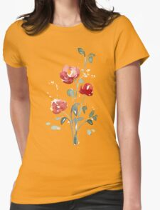 flowers. roses. flower happiness Womens Fitted T-Shirt