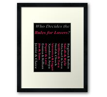 Starcrossed Lovers Strike Their Own Path Framed Print