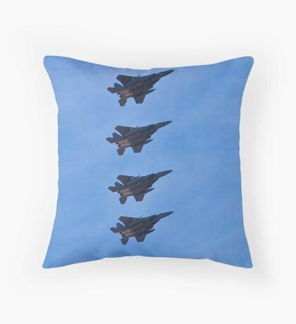 F-15 Strike Eagle squadron Throw Pillow
